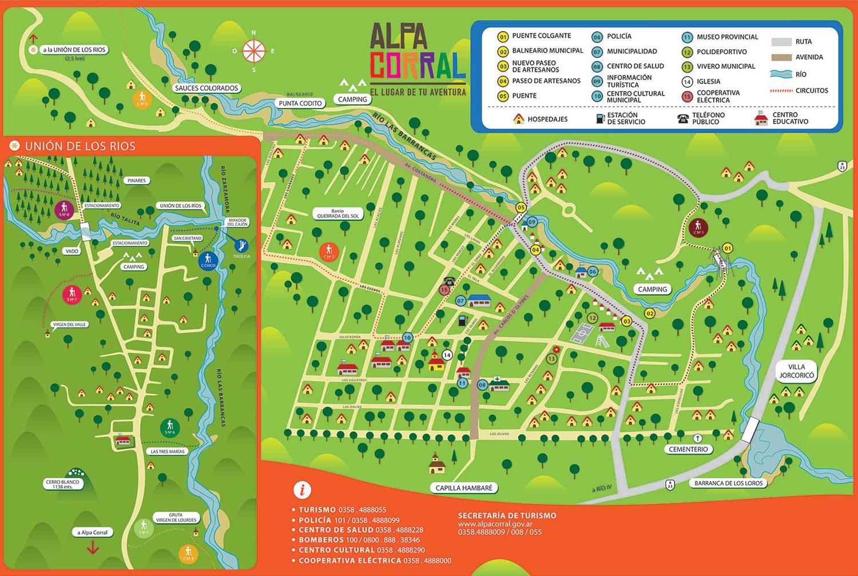 Mapa turístico de Alpa Corral
