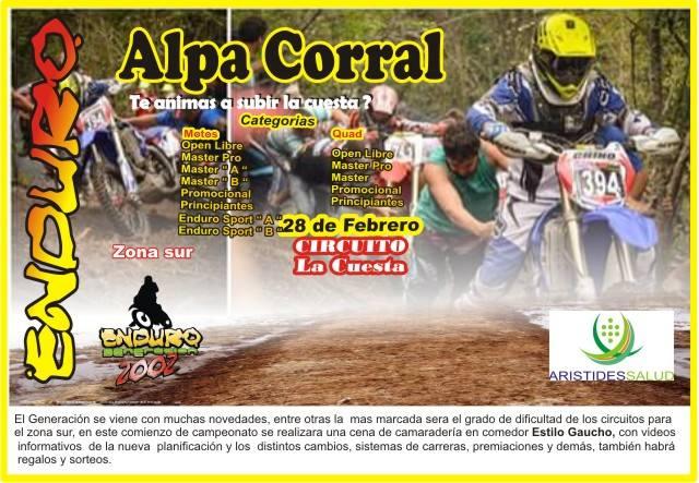 Enduro en Alpa Corral 26 y 27 de Febrero