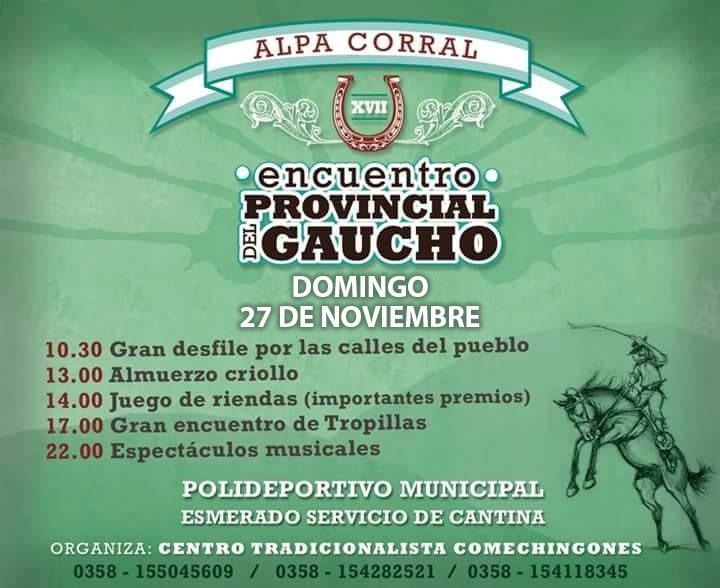 27 de Noviembre encuentro provincial de gaucho