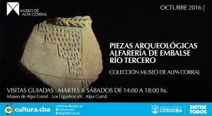 Octubre 2016 Museo de Alpa Corral exposición de piezas Aqueologicas