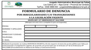formulario de denuncia