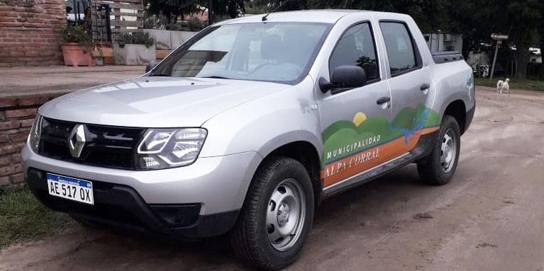 Nuevo Vehículo adquirido por la Municipalidad de Alpa Corral