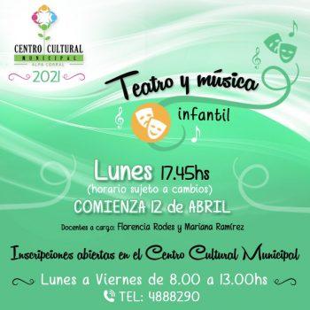 CON DESEOS DE APRENDER - Teatro y musica